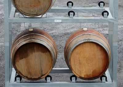 Wine Barrel stands & grape bins